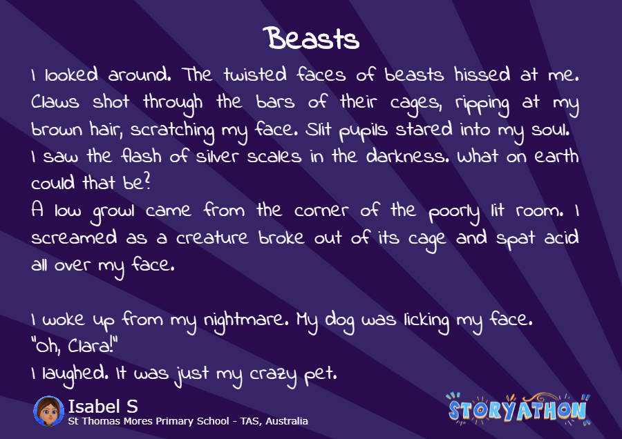Beasts by Isabel S St Thomas Mores Primary School - TAS Australia