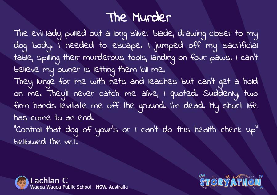 The Murder by Lachlan C Wagga Wagga Public School - NSW Australia
