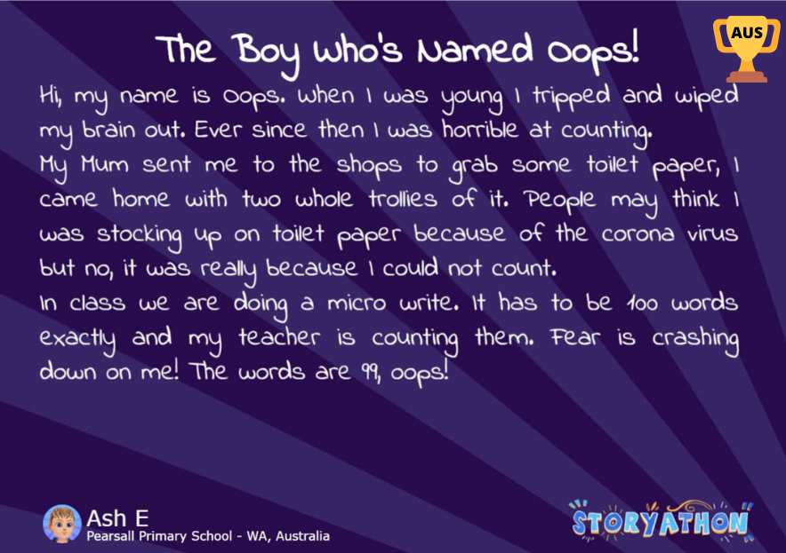 Storyathon Winner - The Boy Whos Named Oops