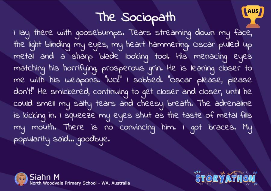 Storyathon Winner - The Sociopath