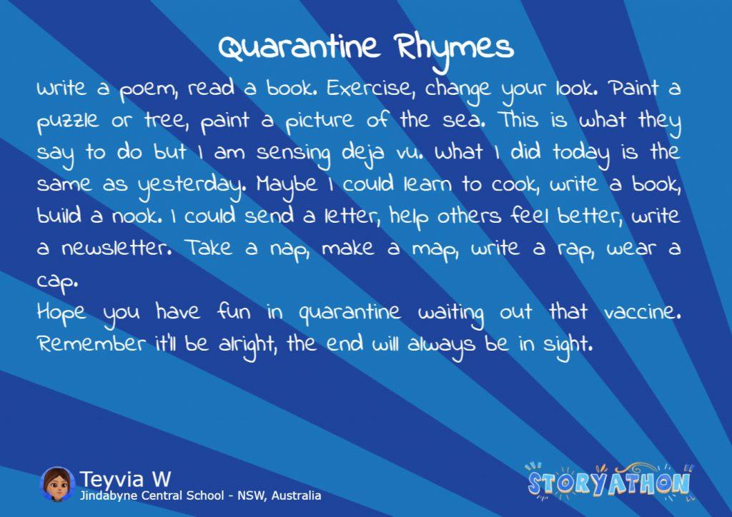 Storyathon - Quarantine Rhymes