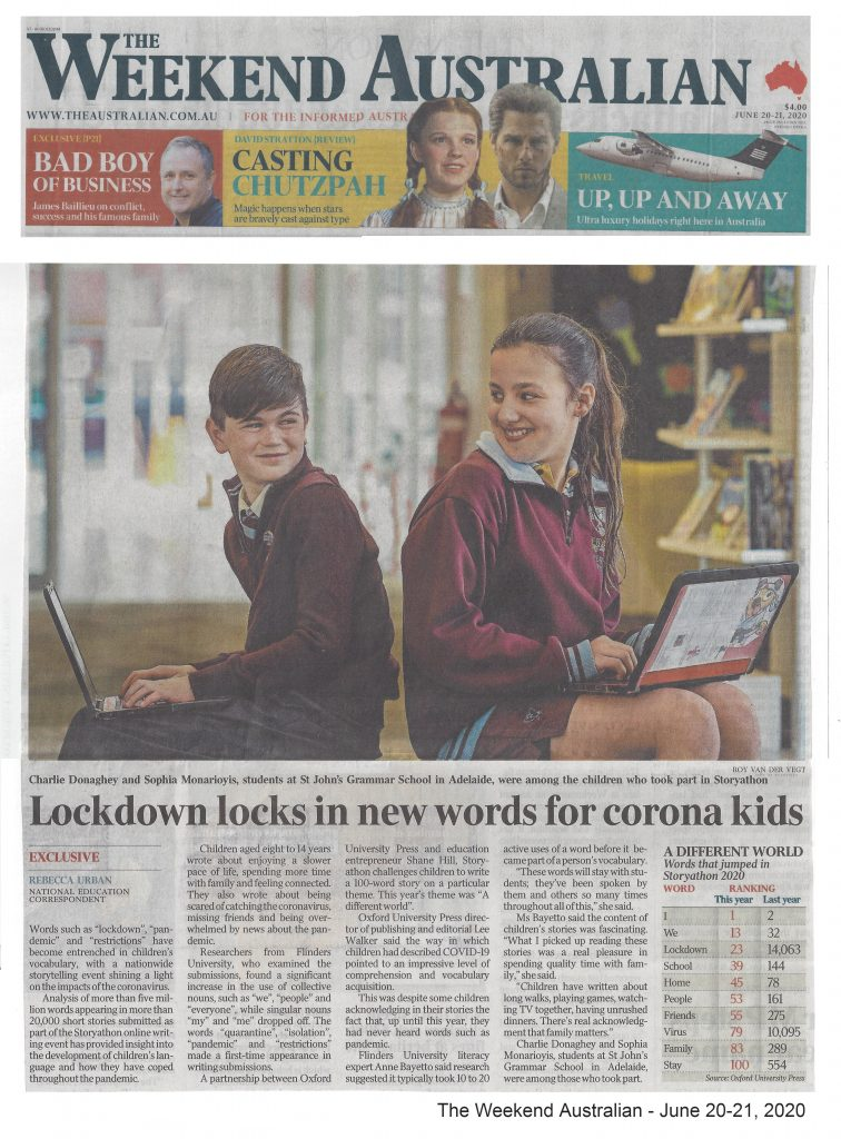 The Weekend Australia - Lockdown locks in new words for corona kids